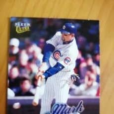 Coleccionismo deportivo: CROMO NÚMERO 161 - BEISBOL - MLBPA - AÑO 1999 FLEER ULTRA - MARK GRACE. Lote 288702083