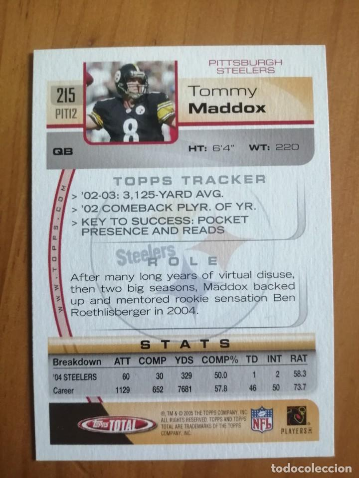 Coleccionismo deportivo: CROMO NÚMERO 215- RUGBY - NFL - 2005 TOPPS TOTAL - TOMMY MADDOX - Foto 2 - 289592373