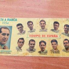 Coleccionismo deportivo: VUELTA A FRANCIA 1954 EQUIPO DE ESPAÑA CHOCOLATES BATANGA (COIB208). Lote 292581618