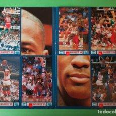 Coleccionismo deportivo: MICHAEL JORDAN. CROMOS STICKER, ESTRELLAS DE LA NBA (LAMINA 8 CROMOS) - BASKET 16 (AÑO 1988). Lote 292882618
