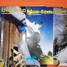 Coleccionismo deportivo: BLUE TOMATO. CUATRO CATALOGOS 2008-2009 SURF, FREESKI , SNOWBOARD. INGLES.. Lote 293486088