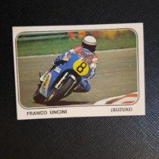 Coleccionismo deportivo: FRANCO UNCINI MOTO SPORT PANINI CROMO MOTOCICLISMO - SIN PEGAR - 131. Lote 295536398
