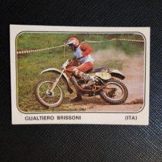 Coleccionismo deportivo: GUALTIERO BRISSONI MOTO SPORT PANINI CROMO MOTOCICLISMO - SIN PEGAR - 213. Lote 295623943