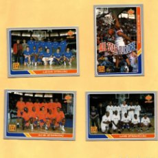 Coleccionismo deportivo: MUNDICROMO LAS FICHAS DE LA ACB 95 ALL STARS EUROPE COMPLETO 1994-1995 4 CROMOS. Lote 297021368