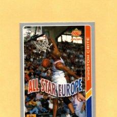 Coleccionismo deportivo: MUNDICROMO LAS FICHAS DE LA ACB 95 ALL STARS EUROPE Nº 201 WINSTON CRITE 1994-1995. Lote 297022288