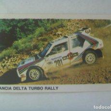 Coleccionismo deportivo: PEGATINA DE AUTOMOVILISMO , Nº 103 , LANCIA DELTA TURBO RALLY. Lote 297080013