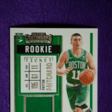 Coleccionismo deportivo: PAYTON PRITCHARD RC TICKET SWATCHES - PANINI CONTENDERS 2020-21. Lote 297096618