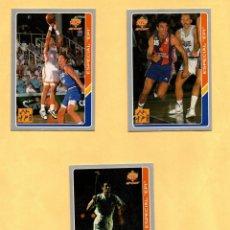 Coleccionismo deportivo: MUNDICROMO LAS FICHAS DE LA ACB 95 ESPECIAL EPI COMPLETO 1994-1995 3 CROMOS. Lote 297107203