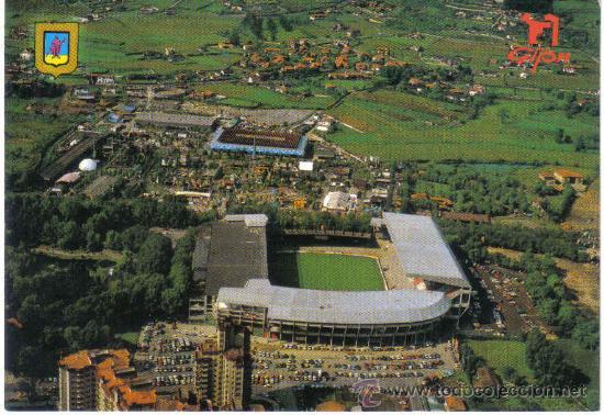 Postal del estadio el molinon del sporting de g comprar postales antiguas de deportes en - Estadio del sporting de gijon ...