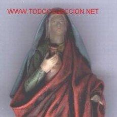 Figuras de Belén: FIGURA DE BELEN, PESEBRE, DE BARRO, HECHA A MANO. PASTORA.. Lote 16417010