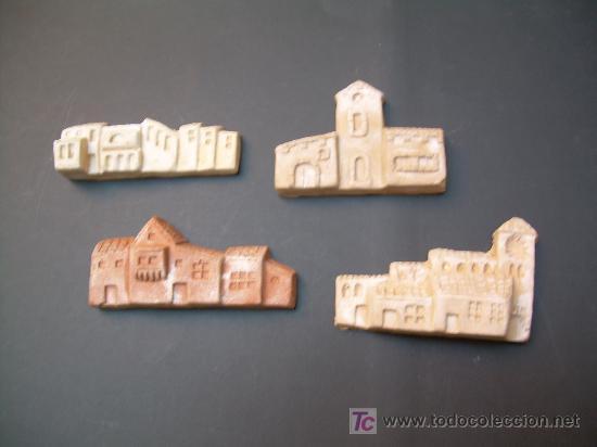 figura de belen cuatro casas de barro para decorar original de manuel ortigas de