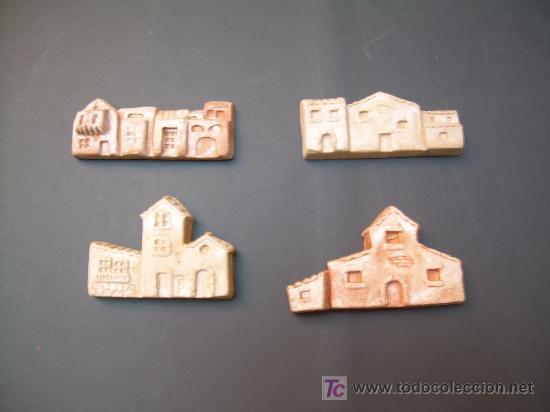 figura de belen cuatro casas de barro para decorar original m ortigas de murcia