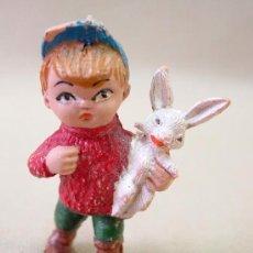 Figuras de Belén: FIGURA PLASTICO BELEN INFANTIL CABEZUDOS PECH 1970S. Lote 23199584