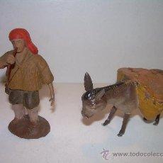Figuras de Belén: ANTIGUAS FIGURAS DE BARRO. Lote 21942501
