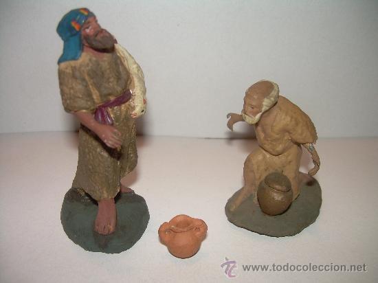 ANTIGUAS FIGURAS DE BARRO (Coleccionismo - Figuras de Belén)