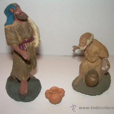 Figuras de Belén: ANTIGUAS FIGURAS DE BARRO. Lote 16932124