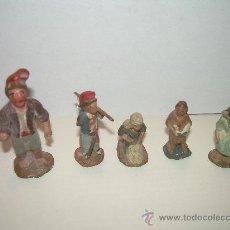 Figuras de Belén: ANTIGUAS FIGURAS DE BARRO. Lote 17016064