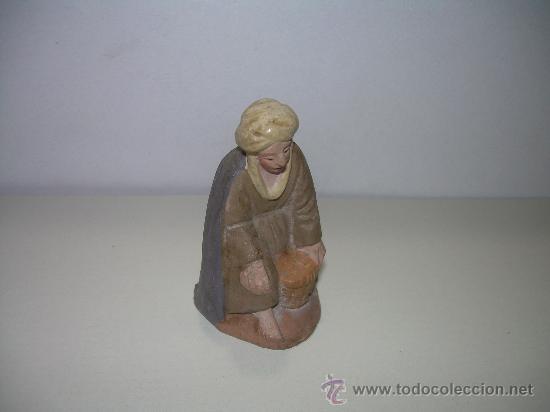 Figuras de Belén: ANTIGUA FIGURA DE BELEN DE BARRO - Foto 2 - 16136638
