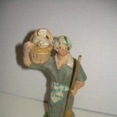 Figuras de Belén: ANTIGUA FIGURA DE BARRO. Lote 16837559