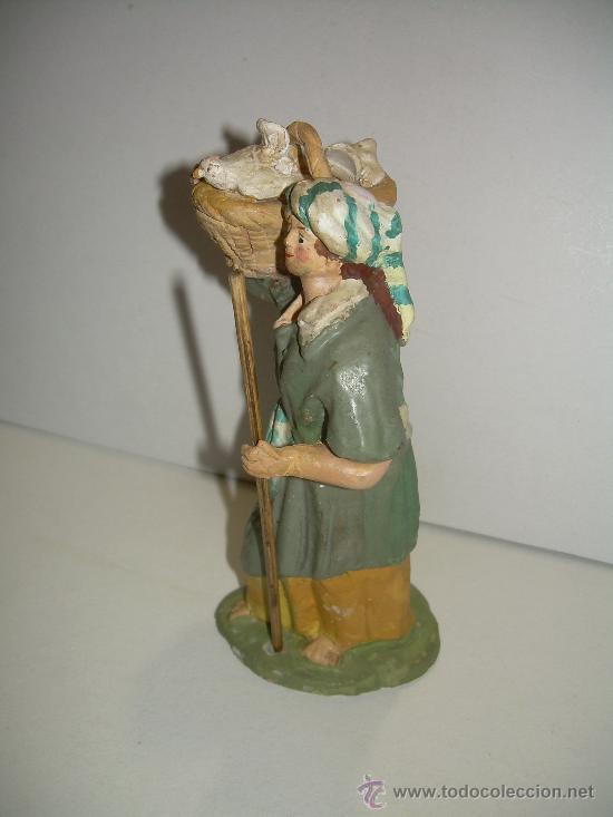 Figuras de Belén: ANTIGUA FIGURA DE BARRO - Foto 2 - 16837559