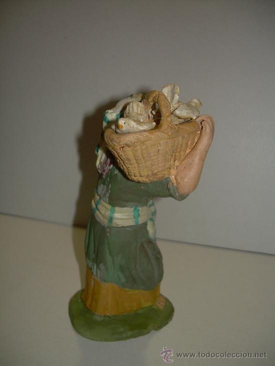 Figuras de Belén: ANTIGUA FIGURA DE BARRO - Foto 3 - 16837559