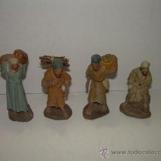 Figuras de Belén: ANTIGUAS FIGURAS DE BARRO. Lote 16967614