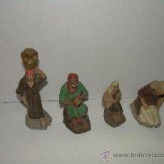 Figuras de Belén: ANTIGUAS FIGURAS DE BARRO. Lote 16932132