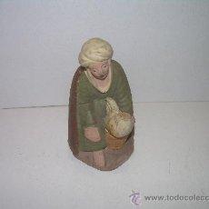 Figuras de Belén: ANTIGUA FIGURA DE BARRO. Lote 17121584
