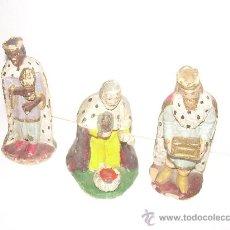 Figuras de Belén: ANTIGUAS FIGURAS DE BARRO (FIRMADAS E.CASASAS). Lote 26233292
