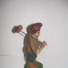 Figuras de Belén: ANTIGUA FIGURA DE BARRO. Lote 21315040