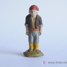 Figuras de Belén: ANTIGUA PIEZA DE BELÉN EN BARRO.. Lote 16269306