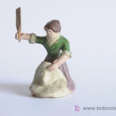 Figuras de Belén: ANTIGUA FIGURA DE BELÉN EN BARRO.. Lote 16280019