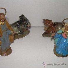 Figuras de Belén: ANTIGUAS FIGURAS DE BARRO. Lote 22290079