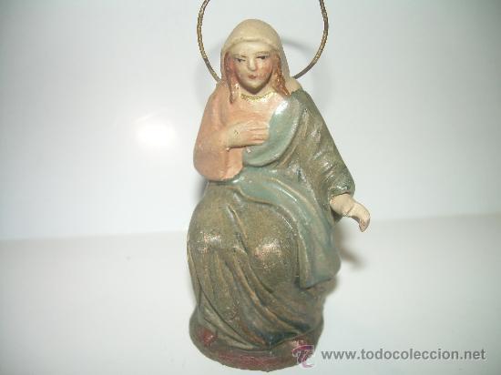 ANTIGUA FIGURA DE BARRO (Coleccionismo - Figuras de Belén)