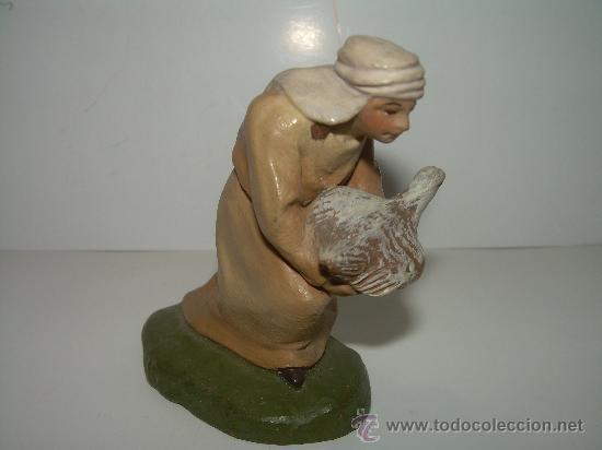 ANTIGUA Y BONITA FIGURA DE TERRACOTA........(CASTELLS) (Coleccionismo - Figuras de Belén)