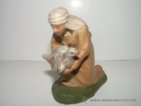 Figuras de Belén: ANTIGUA Y BONITA FIGURA DE TERRACOTA........(CASTELLS) - Foto 2 - 147046189