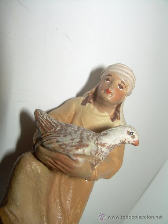 Figuras de Belén: ANTIGUA Y BONITA FIGURA DE TERRACOTA........(CASTELLS) - Foto 4 - 147046189