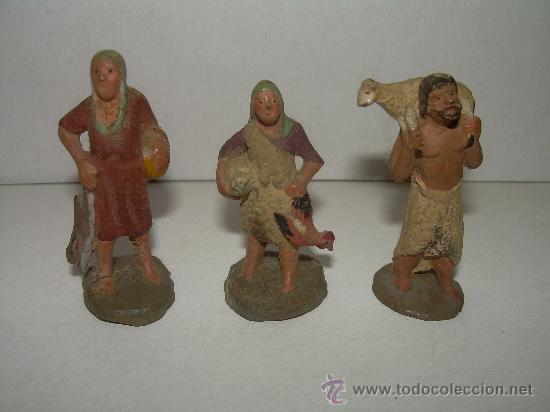 ANTIGUAS FIGURAS DE TERRACOTA (Coleccionismo - Figuras de Belén)