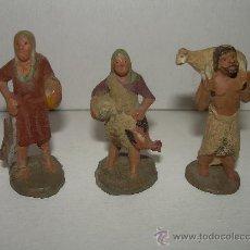 Figuras de Belén: ANTIGUAS FIGURAS DE TERRACOTA. Lote 21770279