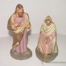 Figuras de Belén: ANTIGUAS FIGURAS DE TERRACOTA. Lote 21364655