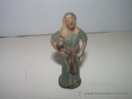 ANTIGUA FIGURA DE PLOMO (Coleccionismo - Figuras de Belén)