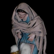 Figuras de Belén: ANTIGUA FIGURA BELÉN BELENISMO, BARRO TERRACOTA, PUIG PESEBRISTAS, BARCELONA. EXCELENTE ESTADO.. Lote 24557366