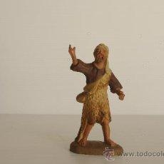 Figuras de Belén: FIGURA DE BELEN (O PESEBRE) EN BARRO (O TERRACOTA). PASTOR.. Lote 24067669