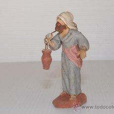 Figuras de Belén: FIGURA DE BELEN (O PESEBRE) EN BARRO (O TERRACOTA). PERSONAJE CON DOS JARRAS.. Lote 24080423