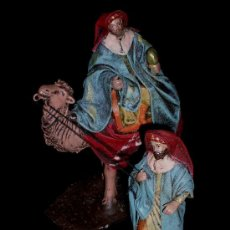 Figuras de Belén: ANTIGUAS FIGURAS BELÉN BELENISMO, BARRO TERRACOTA, PUIG PESEBRISTAS, BARCELONA. EXCELENTE ESTADO.. Lote 24683319