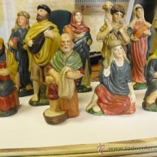 Figuras de Belén: 9 FIGURAS DE BELEN,HUECAS DE MATERIAL MUY FUERTE. Lote 25597310