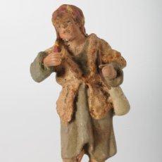 Figuras de Belén: FIGURA EN ESTUCO PARA BELEN O PESEBRE PASTOR CON MORAL. Lote 25941152