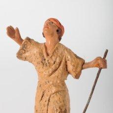 Figuras de Belén: FIGURA DE BELEN (O PESEBRE) EN BARRO (O TERRACOTA). Lote 25943333