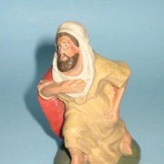 Figuras de Belén: FIGURA PESEBRE (BELEN) EN TERRACOTA (BARRO). Lote 27542896