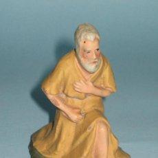 Figuras de Belén: FIGURA PESEBRE(BELEN) EN TERRACOTA (BARRO). Lote 27562100